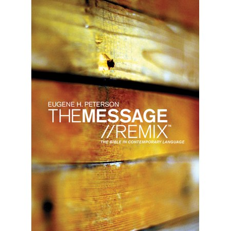 The Message//REMIX (Hardcover, Wood) : The Bible in Contemporary Language