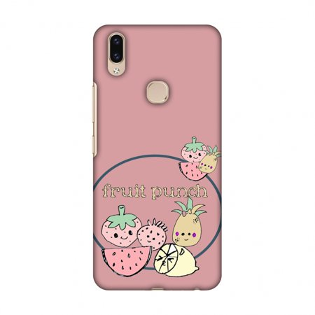 Vivo V9 Case - Fruit Punch- Sooty pink, Hard Plastic Back Cover, Slim  Profile Cute Printed Designer Snap on Case with Screen Cleaning Kit