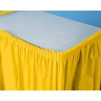 Pack of 6 School Bus Yellow Pleated Disposable Plastic Picnic Party Table Skirts 14'
