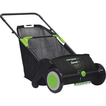 "Earthwise 21"" Push Lawn Sweeper, 2.6 Bushel Collection Bag, LSW70021"