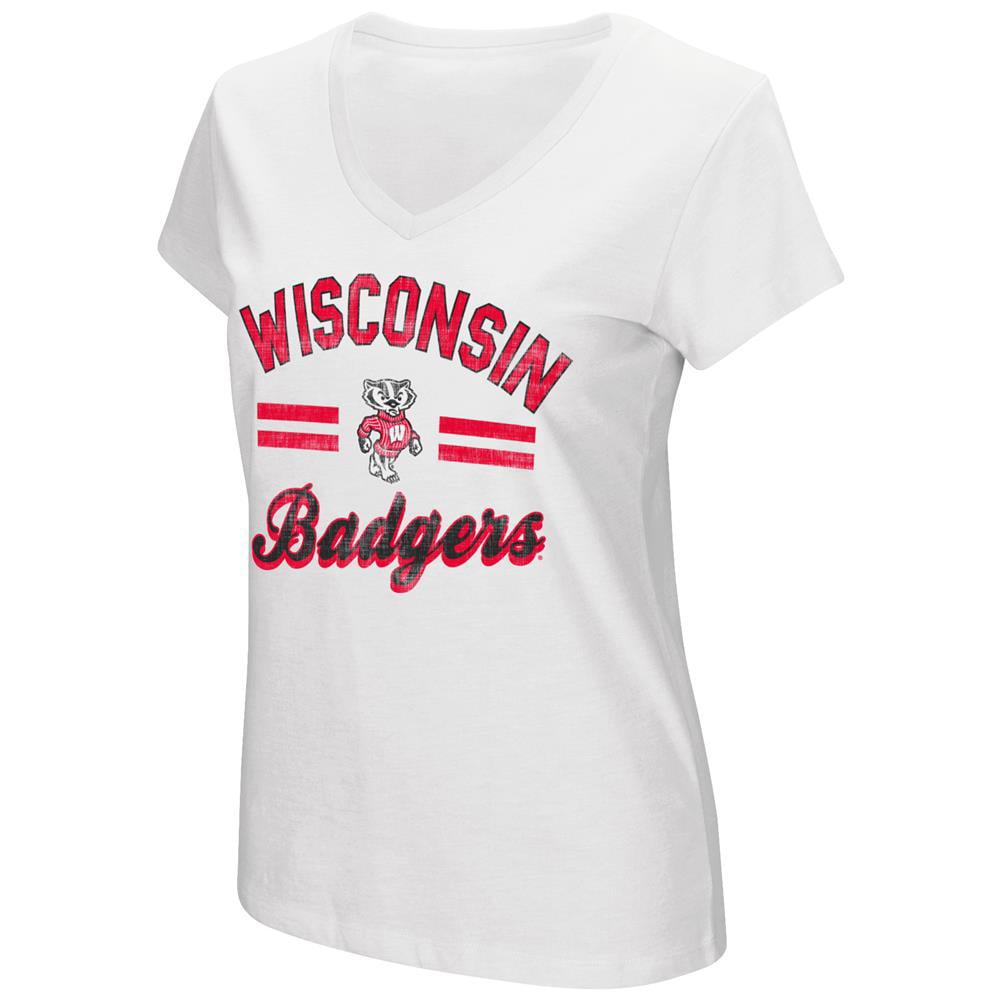 Women's Hurdle Short Sleeve University of Wisconsin Badgers Graphic Tee