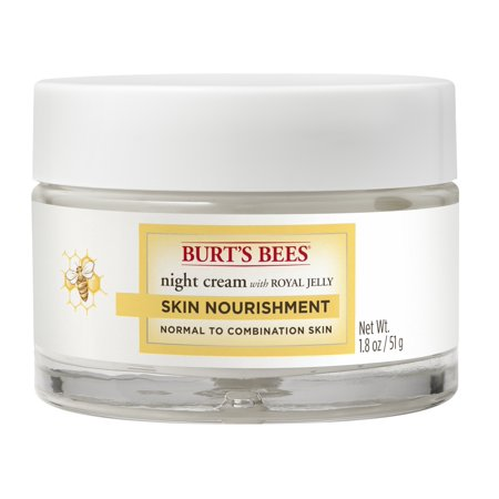 Burt's Bees Skin Nourishment Night Cream For Normal To Combination Skin, 1.8 (Burts Bees For Dogs Soothing Skin Cream)