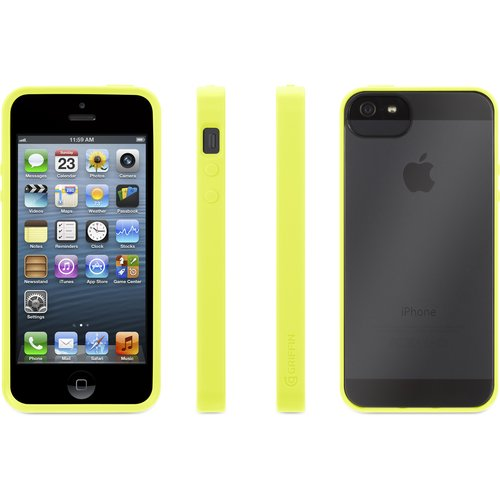 GRIFFIN GB35994 iPhone(R) 5/5s Reveal Case (Citron/Clear)