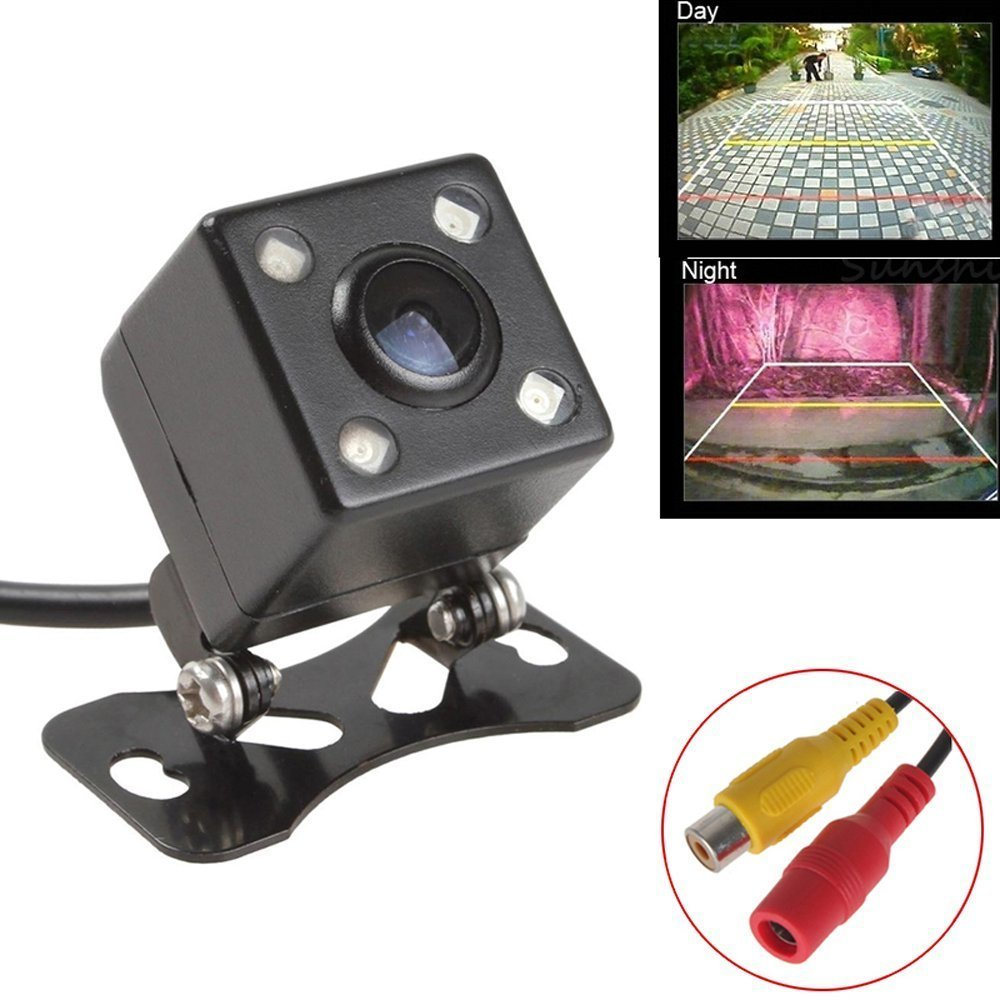 Podofo Car Backup Camera with Waterproof Mini 4 IR Night Vision 170 Degree Reverse