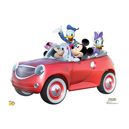 Mickey Car Ride Cardboard Stand-Up - Mickey Mouse Cardboard Cutout