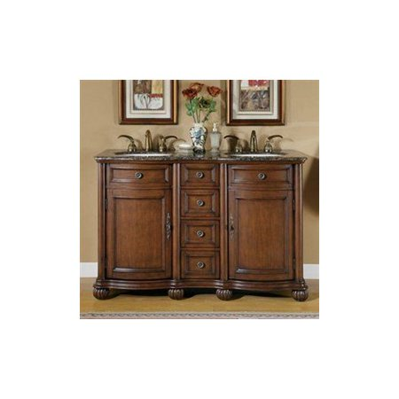 Silkroad Exclusive Ltp 0180 Bb Uic 52 Molly Double Sink Cabinet Bathroom Vanity