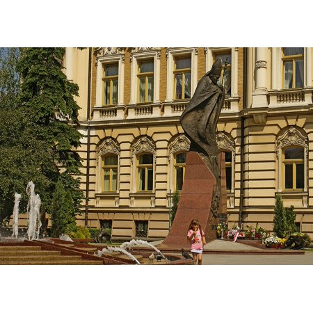 LAMINATED POSTER The Statue The Statue Of Pope John Paul Ii Monument Poster Print 24 x 36