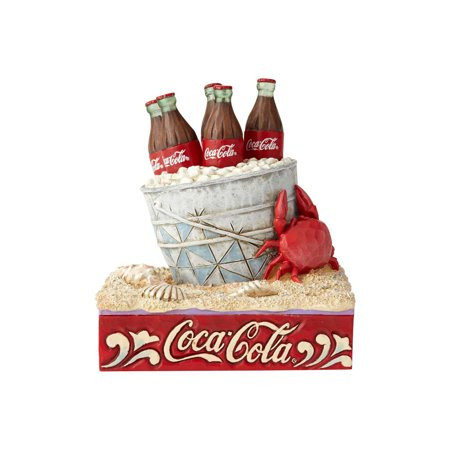 Jim Shore Coca-Cola 6000996 Coke Ice Bucket On Beach (Jim Shore Scarecrow)