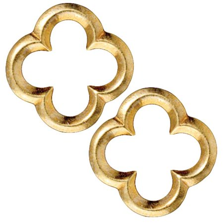 - Bright 22K Gold Plated Lead-Free Pewter Lg Quatrefoil Connector Link 22mm (2)