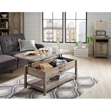 - Better Homes & Gardens Modern Farmhouse Lift-Top Coffee Table, Rustic Gray Finish