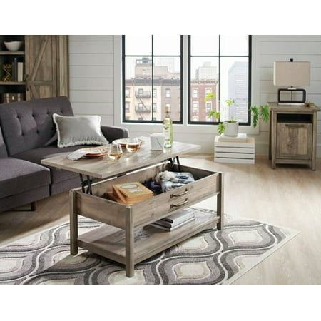 Marvelous Better Homes Gardens Modern Farmhouse Lift Top Coffee Table Rustic Gray Finish Cjindustries Chair Design For Home Cjindustriesco