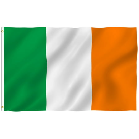 ANLEY [Fly Breeze] 3x5 Feet Irish Flag - Vivid Color and UV Fade Resistant - Canvas Header and Brass Grommets - Ireland IE Banner Flags