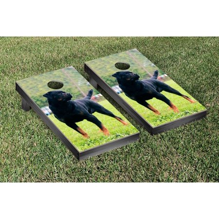 Rottweiler Dog Themed Cornhole Game Set