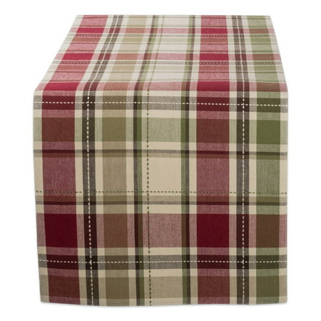 """DII Cotton Table Runner for Wedding, Birthday, Dinner Parties, Christmas, Holidays, or Everyday Use - 13x54"""", Homespun Plaid"""