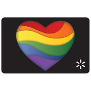 Rainbow Heart Walmart eGift Card