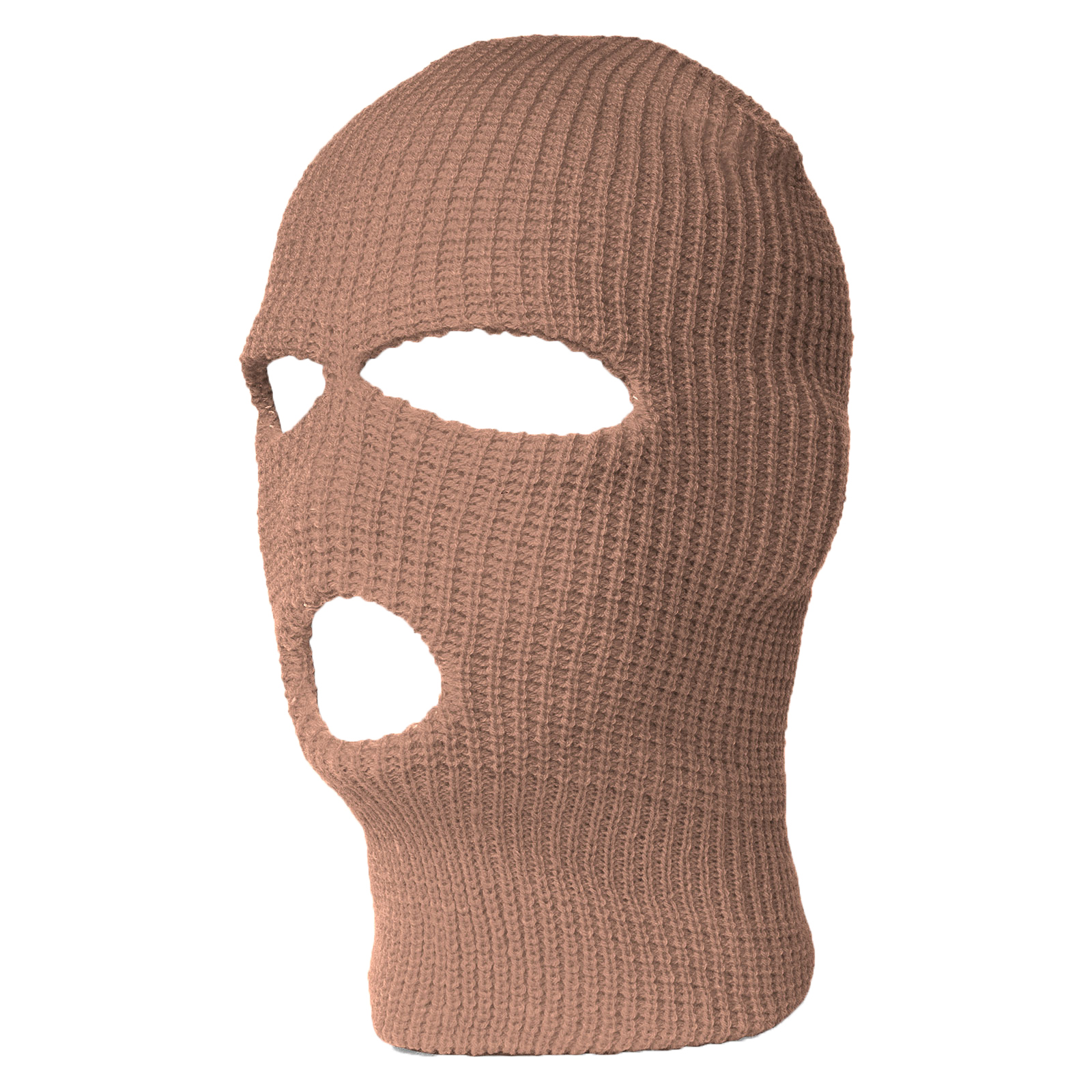 3 Hole Ski Mask Balaclava, Khaki 1pc by