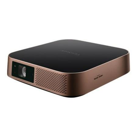 ViewSonic M2 - DLP projector - LED - 3D - 1200 lumens - Full HD (1920 x 1080) - 16:9 - 1080p - 802.11a/b/g/n wireless / Bluetooth 4.0 - matte black