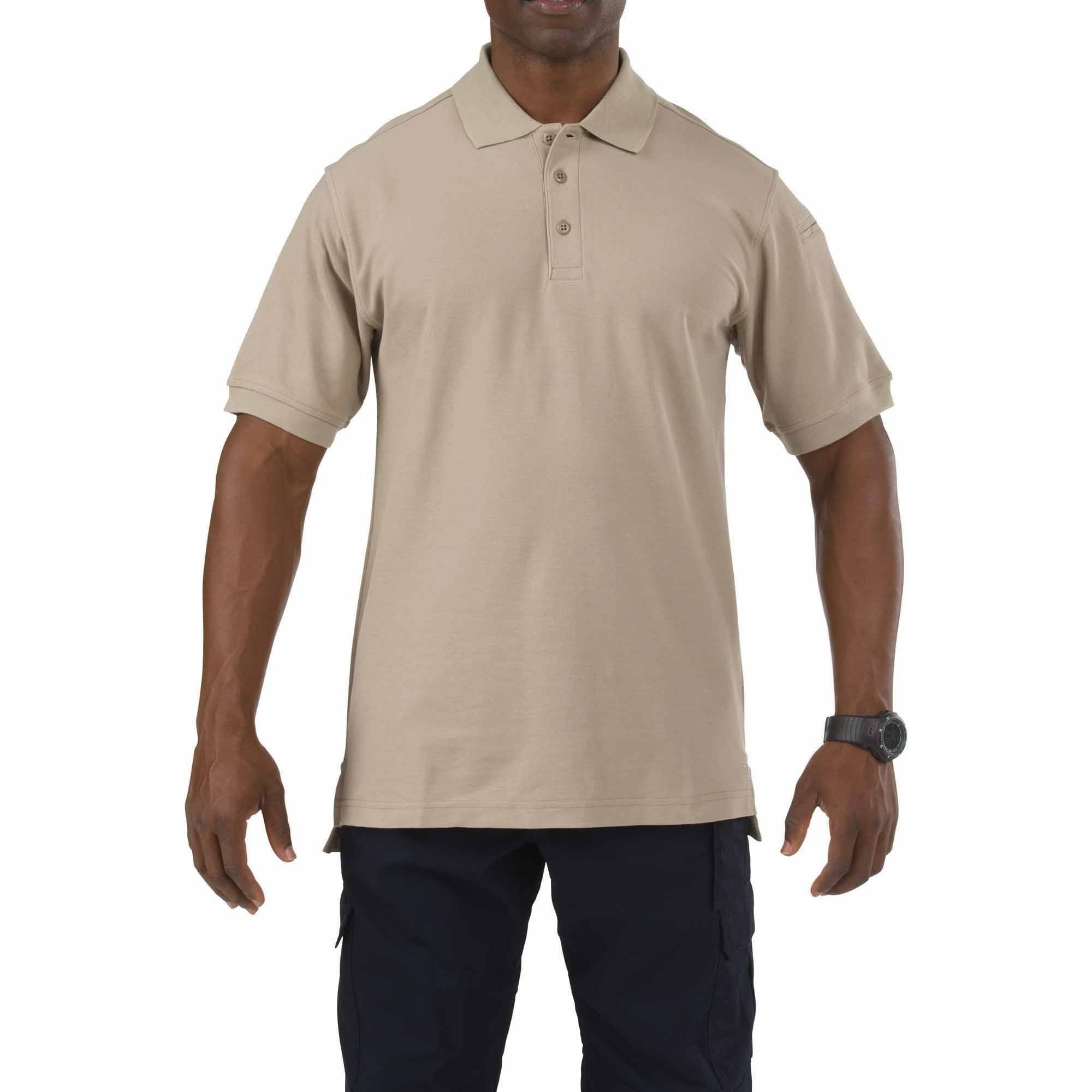Men Utility Polo Short Sleeve, Silver Tan, Tall