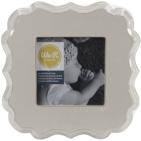 American Craft We R Memory Keepers Decorative Wooden Frame Cream 7 X 7