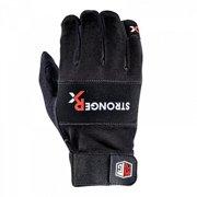 Stronger RX RTG Half Fingers Black Gloves, Large