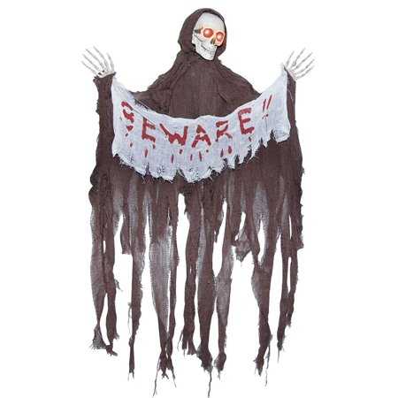 Animated Reaper with Banner Halloween Decoration - Banner Halloween