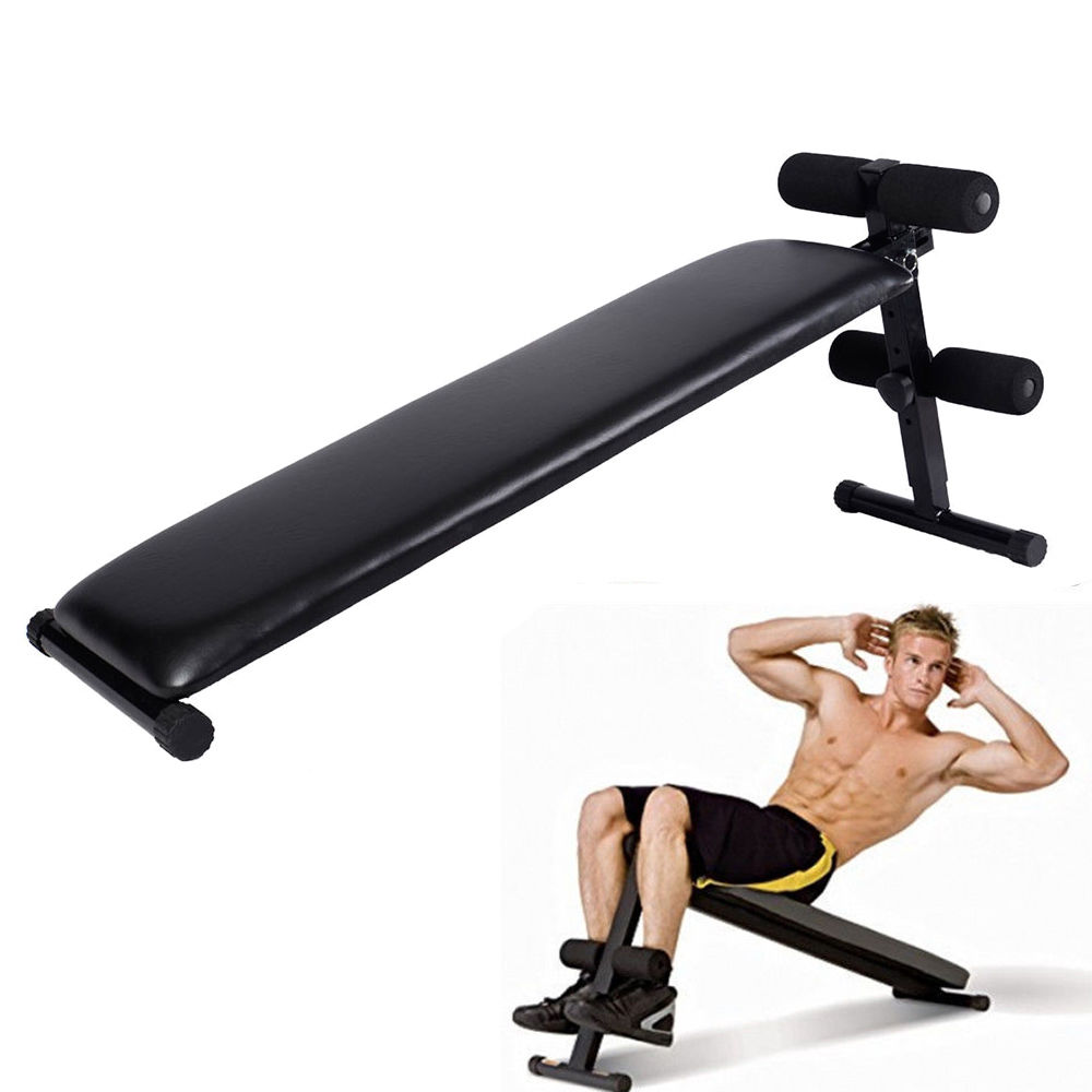 Zimtown Folding Adjustable Sit Up Decline Bench for AB Crunch Fitness Workout Home Gym Exercise