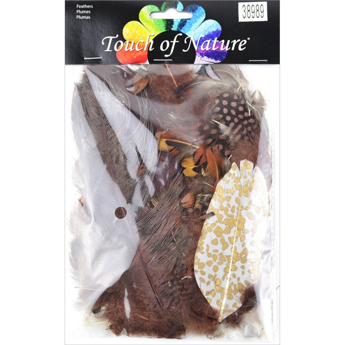 Packaged Feathers 7g-Chocolate, Natural & Sienna