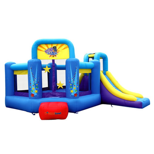 Bounceland Pop Star Slide Bounce House by Overstock