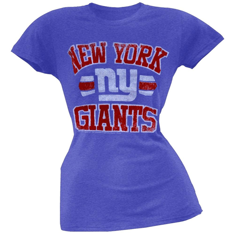 New York Giants - Vintage Flock Logo Juniors T-Shirt - X-Large