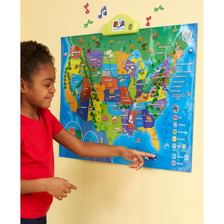 BEST LEARNING i-Poster My USA Interactive Map - Educational Talking Toy for
