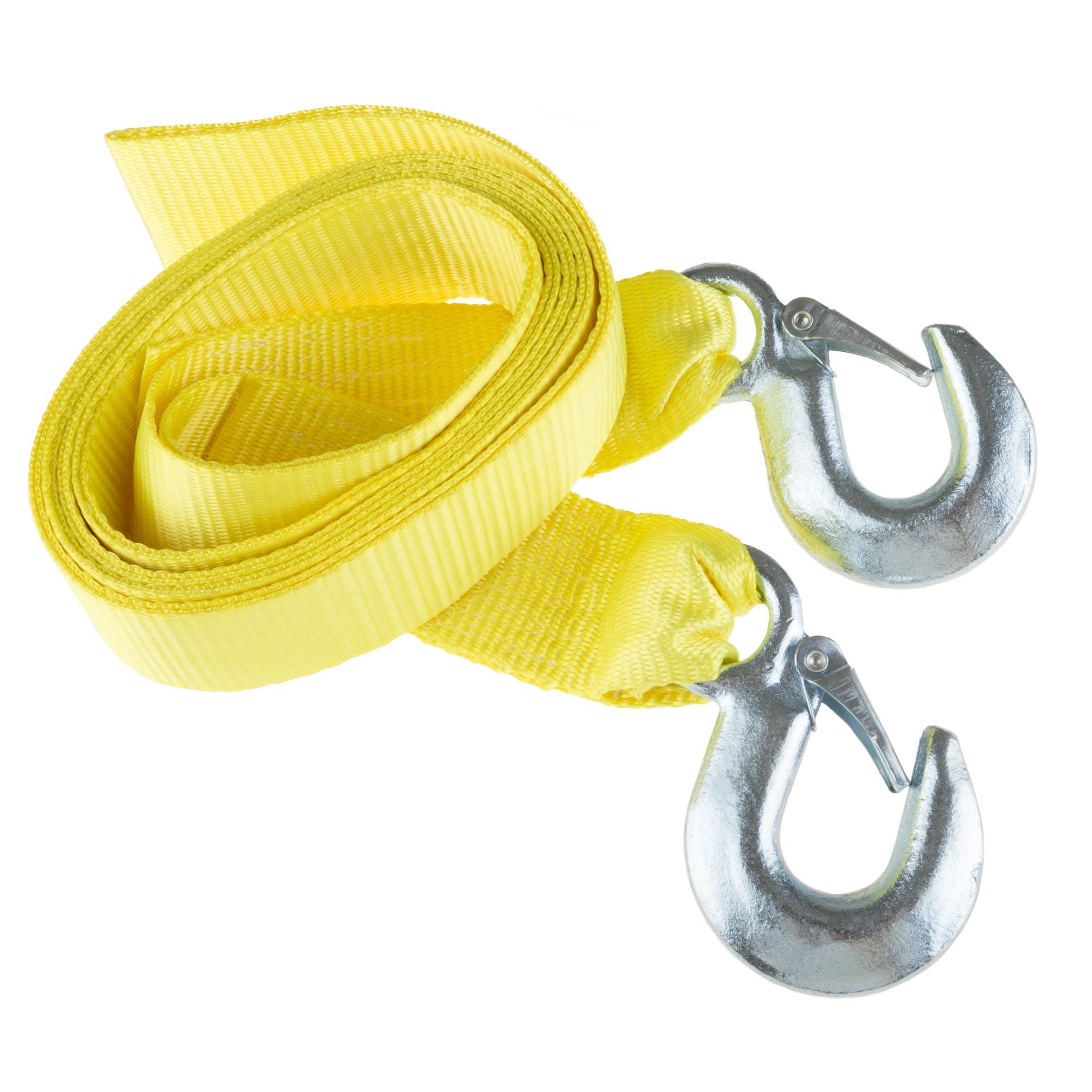 Tow Strap 6000 lb Capacity- High Quality Weather Resistant Nylon Rope Forged Steel Hook Construction by Stalwart