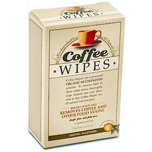 ENZYME SOLUT 38 Coffee Wipes Case of 6