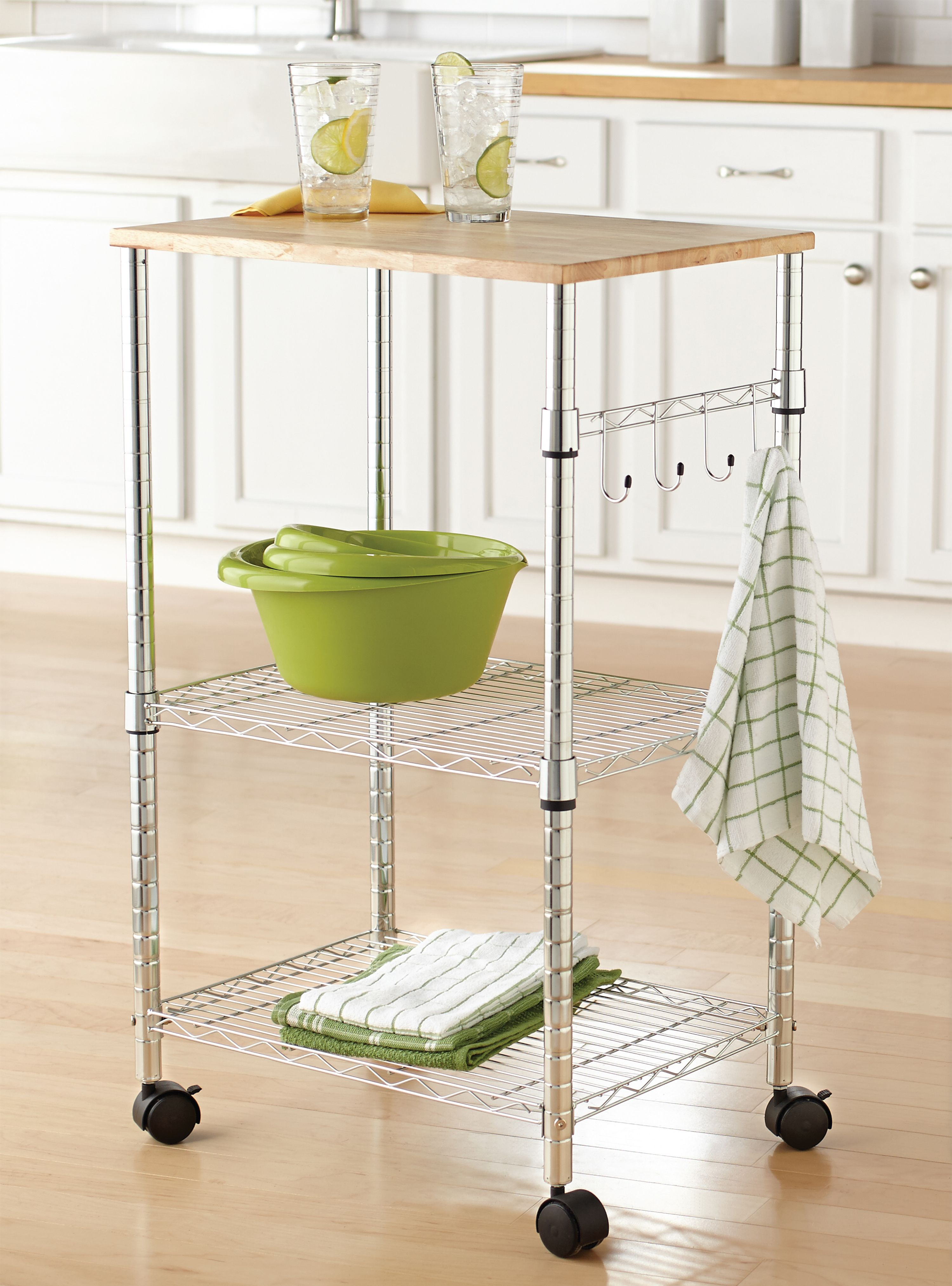 Mainstays Multi Purpose Kitchen Cart Multiple Colors Walmart