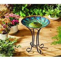 Better Homes & Gardens Solar Bird Bath, Blue