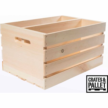 Crates and Pallet Divided Large Wood Crate - Walmart.com