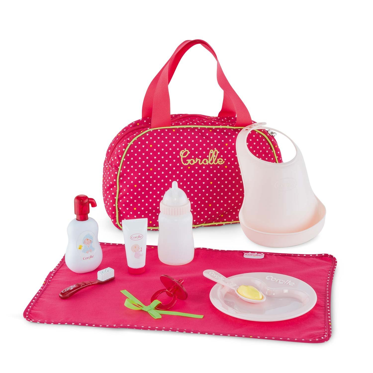 Mon Classique Cherry Baby Accessories Set, Everything little ones need to take care of their baby doll By... by