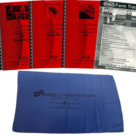 Case International Repair Manual - New Tractor Manual Kit For Case IH International Harvester 424