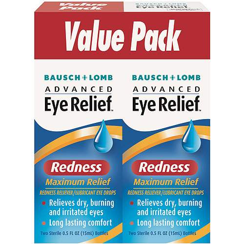 Advanced Eye Relief: Redness Maximum Relief Redness Reliever/Lubricant Eye Drops, 0.50 fl oz