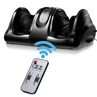 Costway Shiatsu Foot Massager Kneading and Rolling Leg Calf Ankle w/Remote Black