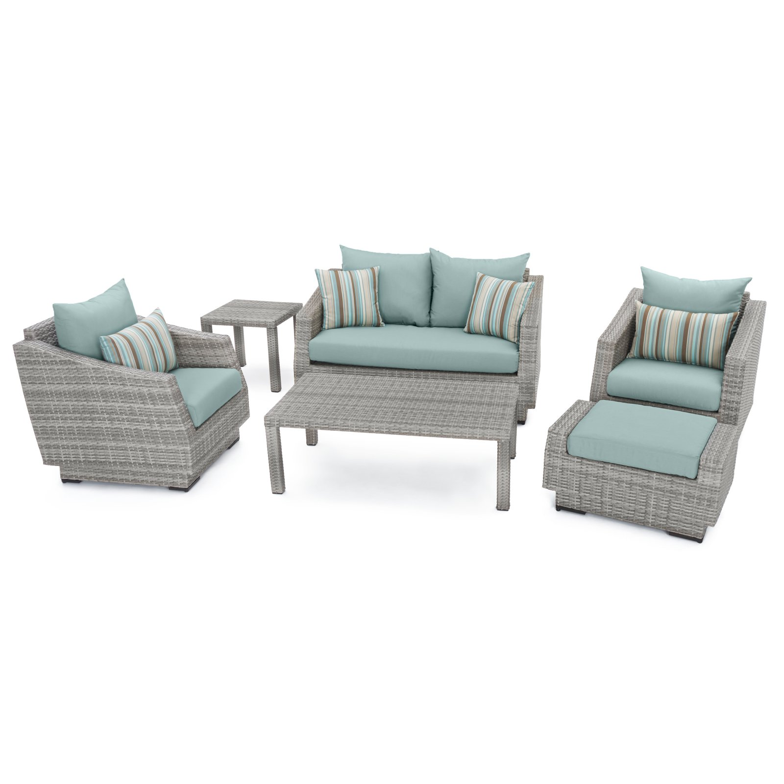 RST Brands Cannes 6 Piece Loveseat Conversation Set