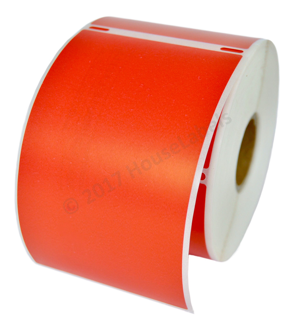 1 Roll 300 Labels REMOVABLE RED Shipping Labels for Dymo LabelWriters 30256