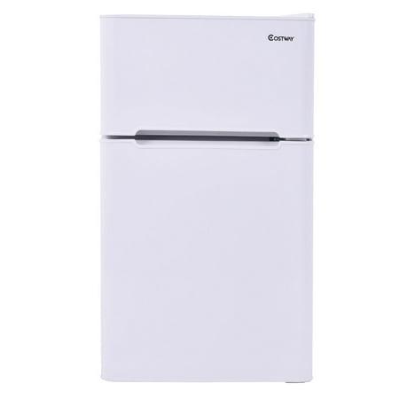 Stainless Steel Refrigerator Small Freezer Cooler Fridge Compact 3.2 cu ft.