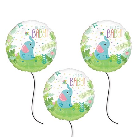 Party City Fishers In (Fisher Price Party Supplies Hello Baby Foil Balloon -)
