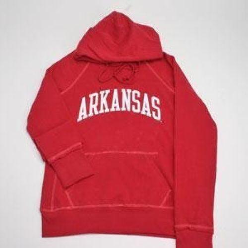 Arkansas Razorbacks Hooded Sweatshirt - Ladies Hoody By League - Red
