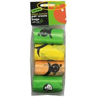 Lola Bean Pet Waste Bag Refills - Lemon Scent 160 Bags - Pack of 4