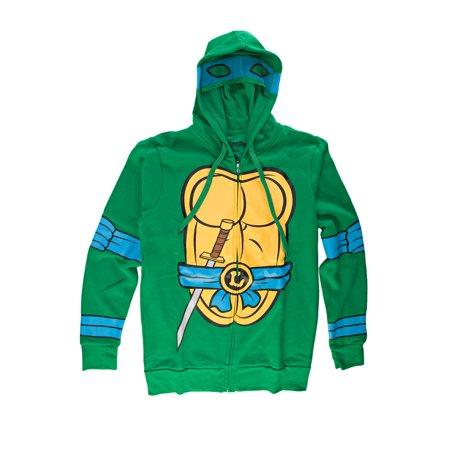 Teenage Mutant Ninja Turtles I Am Leonardo Mens Zip-Up Costume Hoodie   2XL
