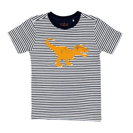 Wild Republic Navy Striped T-Rex Shirt (T-rex Stripe)