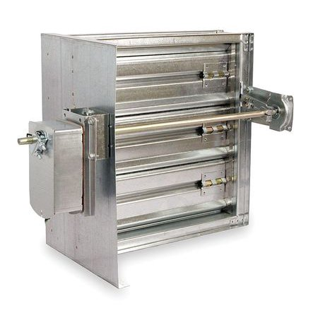DAYTON 3HGG6 Square Smoke Damper,120V,7-3/4 In. W (Square Smoke Damper)