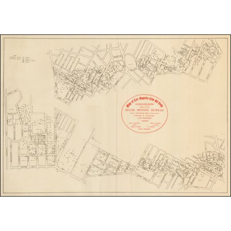 LAMINATED POSTER Map of Los Angeles City Oil Field . . . POSTER PRINT 24 x