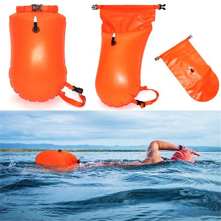 20L Waterproof Dry Bag, Ultralight Swim Buoy and Safety Float for Open Water Triathletes, Kayak, Snorkeling,Surfers, Beach, Swimming, Boating with Adjustable Waist